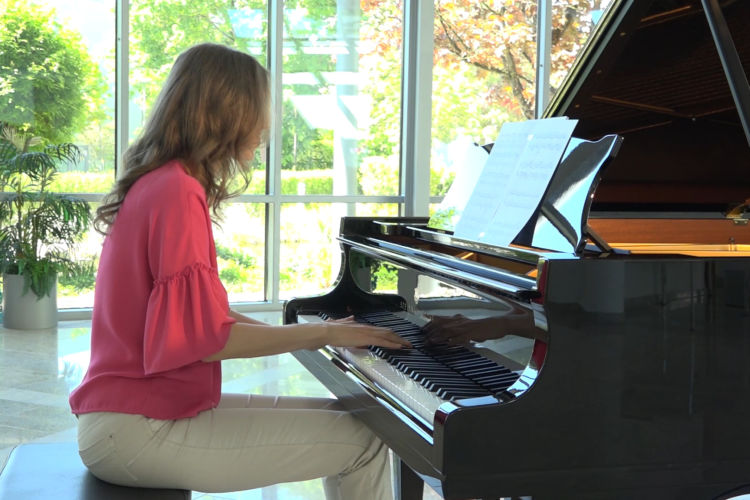 """Anna Sutyagina plays the original composition by UK composer Alex Rimes, it is going to be the collection of etudes for intermediate players. Johann Sebastian Bach and his """"well-tempered clavier"""" has been the source of inspiration for the composition """"Etude"""" of Alex Rimes. A welcome stimulation and balance for mind and soul."""